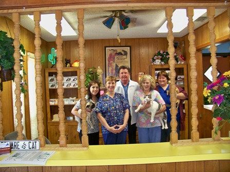 Dr. Edward Nichols, DVM and staff at Crestway Animal Clinic